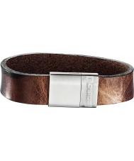 Police 25494BLC-02-L Mens Sergeant Dark Brown Bracelet - Size L