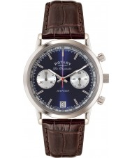 Rotary GS90130-05 Mens Les Originales Sports Avenger Blue Brown Chronograph Watch