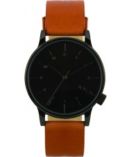 Komono KOM-W2253 Winston Regal Cognac Leather Strap Watch