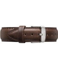 Daniel Wellington DW00200023 Mens Classic Bristol 40mm Silver Brown Leather Spare Strap