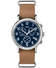 Timex TW2P62300 Weekender Brown Strap Chronograph Watch