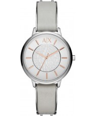 Armani Exchange AX5311 Ladies Grey Leather Strap Dress Watch
