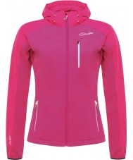 Dare2b DWL317-8ZX20L Ladies Utilize Jem Pink Softshell Jacket - Size UK 20 (XXXL)