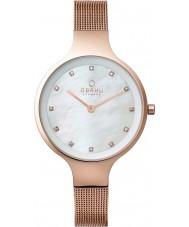 Obaku V173LXVWMV Ladies Rose Gold Plated Mesh Bracelet Watch