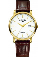Roamer 709856-48-25-07 Mens Classic Line Brown Leather Strap Watch