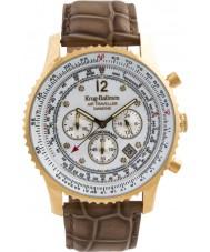 Krug Baümen 600201DS Mens Air Traveller Diamond Watch