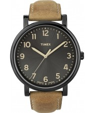 Timex T2N677 Mens Black Tan Classic Round Watch