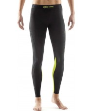 Skins DA99060019240FM Ladies DNAmic Black and Limoncello Compression Long Tights - Size M