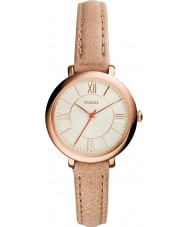 Fossil ES3802 Ladies Jacqueline Cream Leather Strap Watch