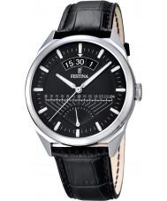 Festina F16873-4 Mens Classic Black Leather Strap Watch