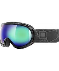 Uvex 5506192026 G.GL 7 Black - Green Mirror Ski Goggles