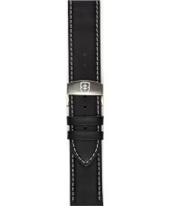 Elliot Brown STR-L02 Mens Canford Black Oiled Leather Strap with White Stitching