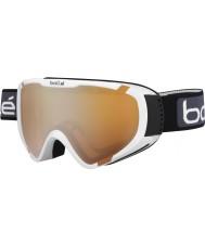 Bolle 21375 Explorer OTG Shiny White - Citrus Gun Ski Goggles