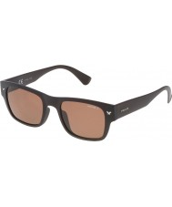Police Mens Offstage 1 SPL150-Z55P Matt Intermediate Brown Polarized Sunglasses