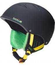 Bolle 30672 B-Free Soft Black Rasta Ski Helmet - 53-57cm