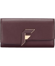 Fiorelli FS0834-PURPLE Ladies Brompton Aubergine Flap Over Purse