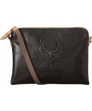 Orla Kiely 0LEAEFS136 Ladies Classic Flower Stem Embossed Black Travel Pouch