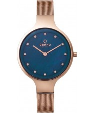 Obaku V173LXVLMV Ladies Rose Gold Plated Mesh Bracelet Watch