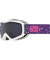 Cebe CBG120 Teleporter White Violet - Grey Ski Goggles