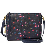 Fossil ZB6902400 Ladies Emma Navy Cross Body Bag