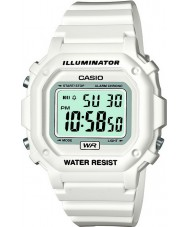 Casio F-108WHC-7BEF Collection White Alarm Chrono Watch