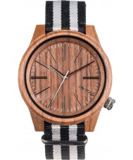 WeWOOD TORPEDONUTGREY Torpedo White Grey Canvas Strap Watch
