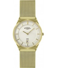 Rotary GB02613-03 Mens Timepieces Gold Plated Mesh Bracelet Watch