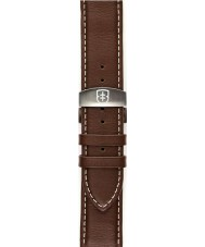 Elliot Brown STR-L03 Mens Canford Chocolate Oiled Leather Strap with White Stitching