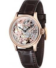 Thomas Earnshaw ES-8049-03 Mens Bauer Brown Mechanical Skeleton Watch