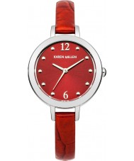 Karen Millen KM152RA Ladies Ruby Ice Crock Pattern Leather Strap Watch