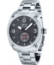 AVI-8 AV-4026-11 Mens Hawker Harrier II Silver Steel Bracelet Watch