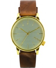 Komono KOM-W2254 Winston Regal Saddle Brown Leather Strap Watch