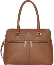 Modalu MH6166-TAN Ladies Pippa Tan Classic Grab Bag