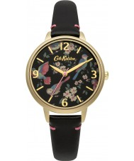 Cath Kidston CKL001BG Ladies British Birds Black Leather Strap Watch