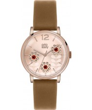 Orla Kiely OK2090 Ladies Betty Swarovski Flowery Set Tan Leather Strap Watch