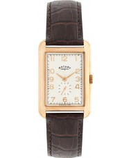 Rotary GS02699-01 Mens Timepieces Portland Rose Gold Brown Leather Strap Watch