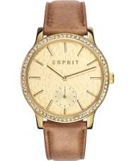 Esprit ES108112002 Ladies TP10811 Brown Leather Strap Watch