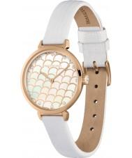 Halcyon Days HD2022 Ladies Salamander Sparkle White Leather Strap Watch