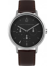 French Connection FC1276BT Mens Brown Leather Strap Watch