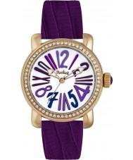 Pocket PK2016 Ladies Rond Crystal Medio Purple Watch