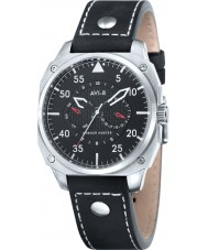 AVI-8 AV-4009-02 Mens Hawker Hunter Black Leather Strap Watch