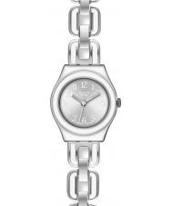 Swatch YSS254G Irony Lady White Chain Watch