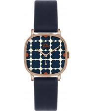 Orla Kiely OK2092 Ladies Cecelia Navy Leather Strap Watch