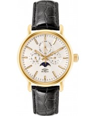 Rotary GS90136-02 Mens Les Originales Greenwich Gold Black Watch
