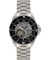 Rotary AGB90078-A-04 Mens Aquaspeed Silver Steel Skeleton Automatic Watch
