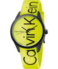 Calvin Klein K5E51TFY Color Yellow Silicone Strap Watch