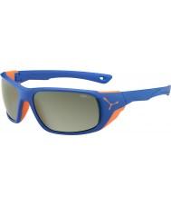 Cebe Jorasses Large Matt Blue Orange Variochrom Peak Flash Mirror Sunglasses