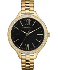 Caravelle New York 44L126 Ladies Carla Gold Steel Bracelet Watch