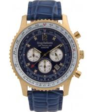Krug Baümen 600207DS Mens Air Traveller Diamond Watch