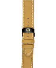 Elliot Brown STR-L04 Mens Canford Sand Oiled Leather Strap with White Stitching